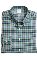 Brooks Brothers Noniron Slim Fit Green Sport Shirt - Lyst