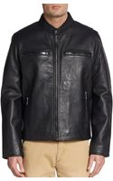 Marc New York By Andrew Marc Lamar Leather Bomber Jacket - Lyst
