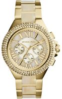 Michael Kors Womens Chronograph Camille Horn and Goldtone Stainless Steel Bracelet Watch 43mm - Lyst
