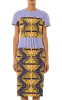 Stella Jean Viola Stripe and Africanprint Dress - Lyst