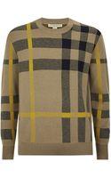 Burberry Brit Intarsia Check Sweater - Lyst