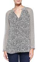 Diane Von Furstenberg Rose Heart Silk Top - Lyst