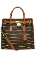 Michael Kors Michael Hamilton Studded Large Northsouth Tote - Lyst