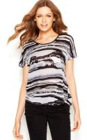 Kensie Watercolor Top - Lyst