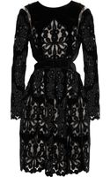 Erdem Franzi Lasercut Embroidered Velvet Dress - Lyst