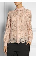 MSGM Lace Shirt - Lyst
