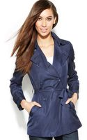 Inc International Concepts Petite Doublebreasted Belted Trench Coat - Lyst