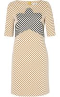 Carven Zigzag Tweed Panel Dress - Lyst