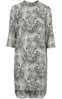 Topshop Paisley Print Tunic Dress - Lyst