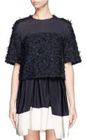 3.1 Phillip Lim Tweed with Chiffon Top - Lyst