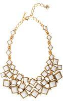 Oscar de la Renta Multi Diamond Resin Necklace - Lyst