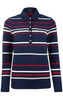 Dash Long Sleeved Stripe Rugby Top - Lyst