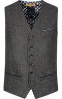 Ted Baker Textured Waistcoat - Lyst