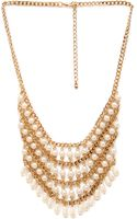 Forever 21 Faux Pearl Bib Necklace - Lyst