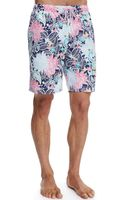 Peter Millar Tropical Paisley Swim Trunks - Lyst