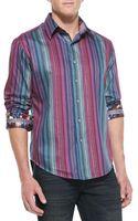 Robert Graham Reservoir Striped Sport Shirt - Lyst