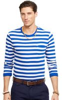 Polo Ralph Lauren Striped Jersey Crew Neck Shirt - Lyst