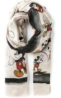 Faliero Sarti Topolino Mickey Mouse Print Scarf - Lyst