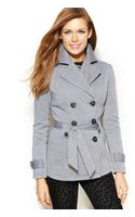 Jou Jou Fleece Doublebreasted Trench Coat - Lyst
