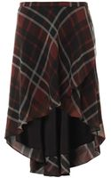 Haute Hippie Checkprint Silk Skirt - Lyst