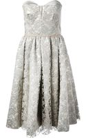 Antonio Marras Flared Floral Lace Dress - Lyst
