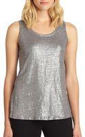 Eileen Fisher Shimmer Knit Tank Top - Lyst