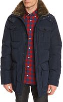 Tommy Hilfiger Doug Navy Nylon Parka with Patch Pockets - Lyst