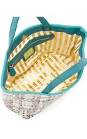 Deux Lux Callie Woven Pvc Tote Bag Teal - Lyst