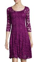 Chetta B 34 Sleeve Lace Cocktail Dress - Lyst