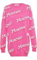 Moschino Barbie Cotton Sweater Dress - Lyst