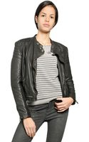 Superdry Angel Nappa Leather Biker Jacket - Lyst