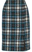 Oscar de la Renta Cottonblend Tweed Pencil Skirt - Lyst