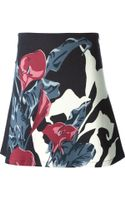 Carven Floral Print Skirt - Lyst