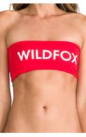 Wildfox Couture Reversible Bandeau Top - Lyst