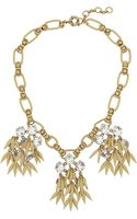J.Crew Jeweled Quill Goldplated Crystal Necklace - Lyst