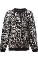 Roberto Cavalli Leopard Motif Sweater - Lyst