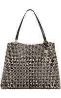 Tommy Hilfiger Jacquard Th Hinge Tote - Lyst