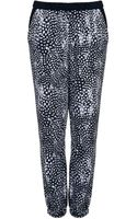 Topshop Womens Feather Print Joggers Multi - Lyst