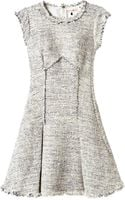 Rebecca Taylor Short Sleeve Tweed Dress - Lyst