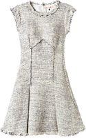 Rebecca Taylor Short Sleeve Tweed Dress - Lyst