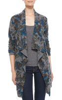 Sofia Cashmere Draped Paisley Cashmere Cardigan and Tank - Lyst