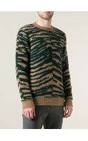 Marc Jacobs Zebra Pattern Textured Sweater - Lyst