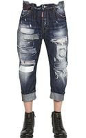 DSquared2 20cm Patches Big Dean Cotton Denim Jeans - Lyst