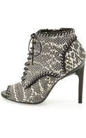 Jason Wu Lace Up Snake Ankle Boot 410b110b - Lyst