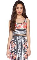 Clover Canyon Floral Scarf Print Reverible Crop Top - Lyst