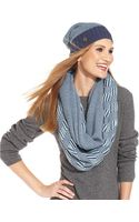 Vince Camuto Plaited Geo Slouchy Beanie - Lyst