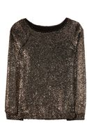 Alice + Olivia Mayer Metallic Sweater - Lyst