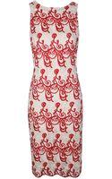 Alice + Olivia Wynn Sleeveless Slim Fitted Dress - Lyst