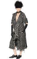 Lanvin Wool Cotton Blend Tweed Coat - Lyst