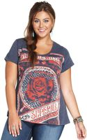 Lucky Brand Jeans Plus Size Roseprint Tee - Lyst
